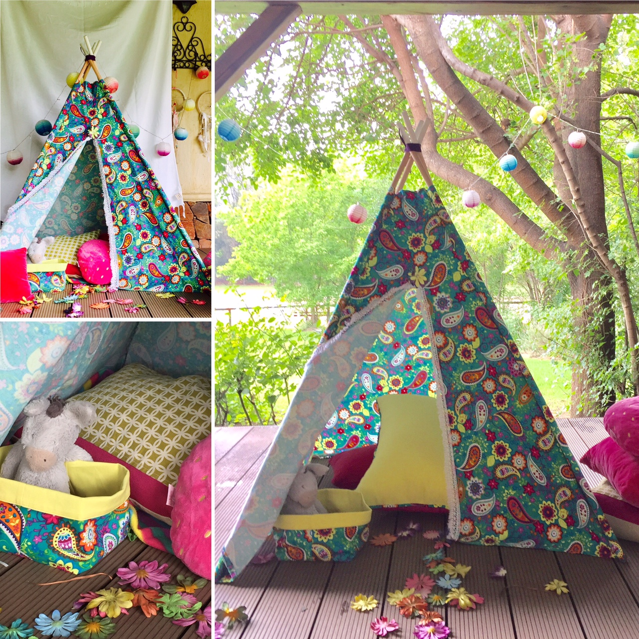 Paisley teepee for girls