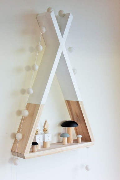 Teepee and play tent kids room decor