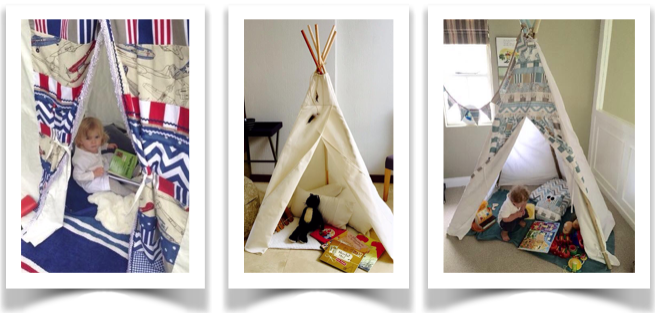 Teepees are safe reading spaces for children