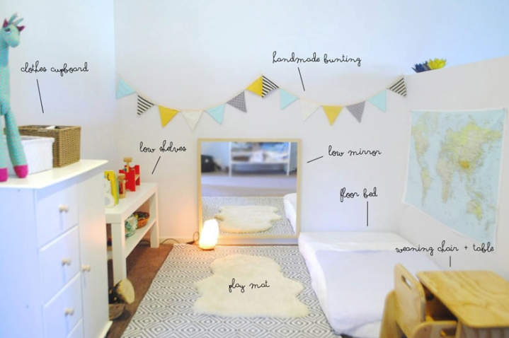 Montessori baby room preparation