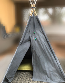 Grey teepee in South Africa
