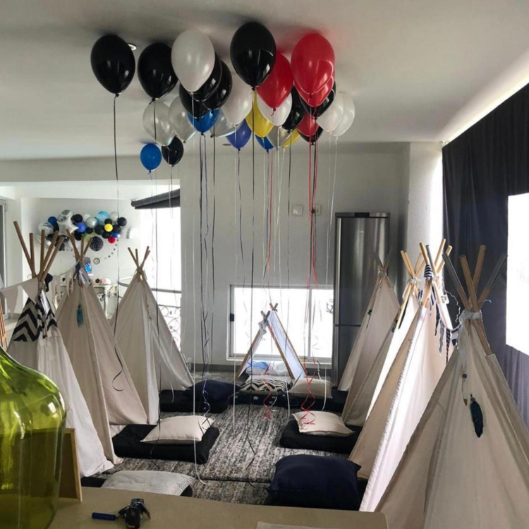 Teepees and play tents for kids party hire