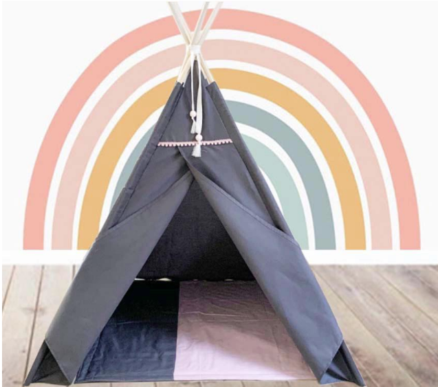 Dark grey teepee and floor quilt for sale in South Africa