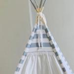 Striped lightblue teepee