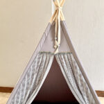 Grey teepee with lace front