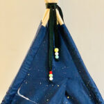 Navy or black teepee with paint splats