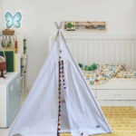 White teepee with trim of your choice