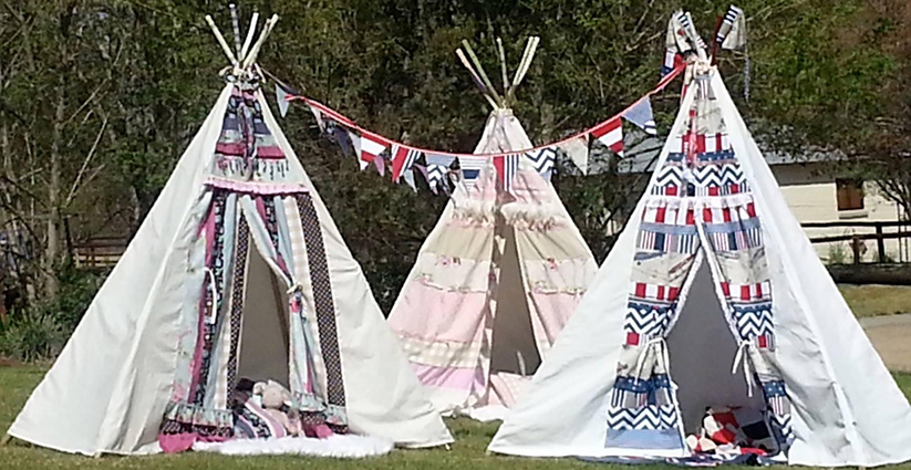 Powwow teepees first play tents in 2014